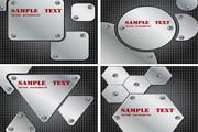 4款图形金属背景矢量素材