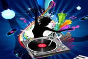 音乐动感背景矢量素材图