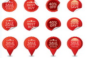 SALE销售贴纸矢量素材