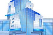 现代商务高楼大厦矢量图素材