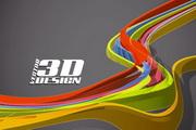 动感3D元素矢量素材