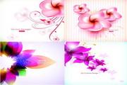 矢量唯美鲜花花卉图