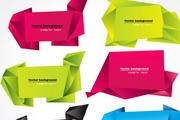 几款漂亮折纸图形eps矢量素材