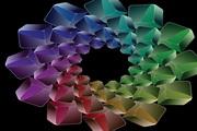绚丽的立体方块 eps矢量图片素材