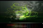 矢量纤细发光植物图