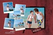 海边泳装摄影PSD素材