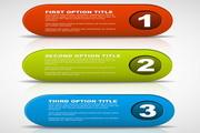 数字与英文主题标签设计素材