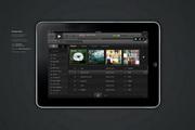 ipad音乐app界面...