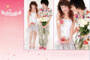 色彩鲜明婚纱照PSD素材