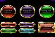 网页设计常用按钮元素eps矢量素材