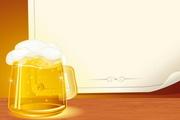 啤酒与背景纸EPS矢量素材