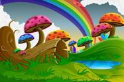 卡通七彩蘑菇