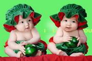 水果小孩摄影PSD素材