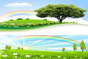 原野彩虹风景