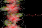 花卉婚礼卡矢量设计模板