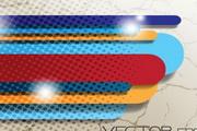 色条网点背景矢量高清图片素材