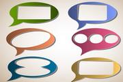 对话框矢量设计素材