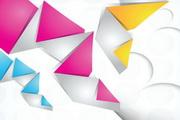 折纸背景矢量素材