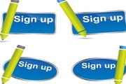 注册图标矢量设计素材