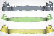 彩色撕纸纹理矢量设计素材
