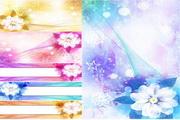矢量发光鲜花背景图02