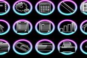 手机黑色光泽图标EPS矢量素材