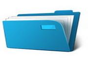 蓝色文件夹图标下载12