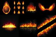 燃烧火焰矢量