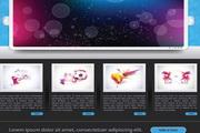 炫彩网页设计企业制作模板EPS矢量素材