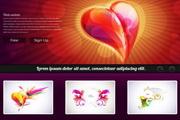 幻彩网页设计制作模板EPS矢量素材
