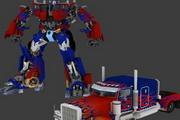 3D素材变形金刚擎天柱3D卡通模型