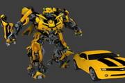 3D素材变形金刚大黄蜂 D卡通图片