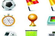 足球比赛全套矢量图标素材