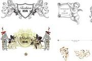 欧式花纹盾牌纹章军衔狮子