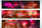 梦幻网页banner矢量模板