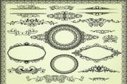 欧式花纹边框矢量素材2