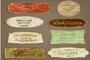 欧式古典标签矢量图