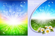 春季复活节自然背景矢量素材