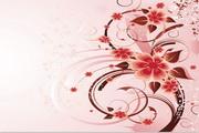 玫瑰花香的背景矢量图