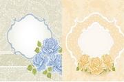 素雅花卉卡片矢量素材