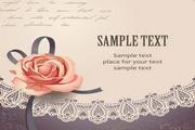 玫瑰邀请卡片矢量素材