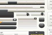 黑色网页常用图标矢量素材