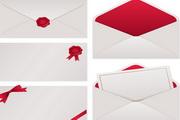 信封文件袋矢量设计模板