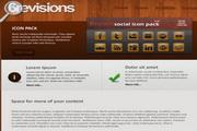 棕色木纹背景精美网页模板