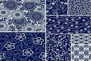 古朴蓝碎花花纹