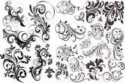 欧式植物花纹