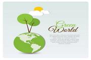 绿世界矢量图形