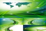 绿叶流线背景