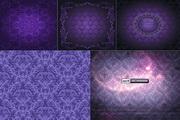 紫色古典花纹背景