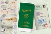 护照模板矢量